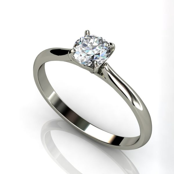 White Gold Round Brilliant Solitaire Cut Engagement Ring