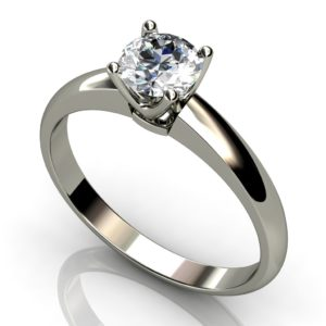 White Gold Round Brilliant Solitaire  Diamond Ring