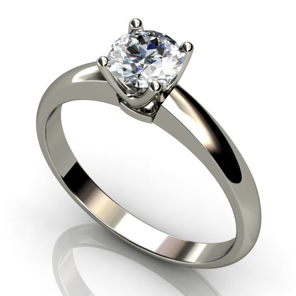 White Gold Round Brilliant Solitaire  Diamond Ring